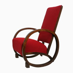 Art Deco Rocking Chair by Bouncing Hare Creations for Heals, 1920s
