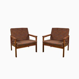Teak Capella Lounge Chairs by Illum Wikkelsø for Niels Eilersen, 1960s, Set of 2