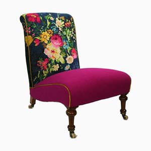 Ladies' Chair in Alhambra Velvet and Harris Tweed