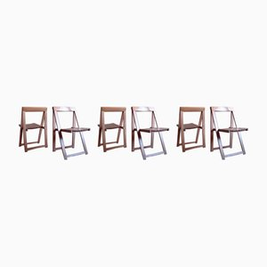 Mid-Century Folding Chairs by Aldo Jacober for Alberto Bazzani, Set of 6