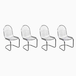 Esszimmerstühle von Gastone Rinaldi, 1970er, 4er Set