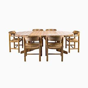 Dänischer Esstisch & Stühle Set von Rainer Daumiller, 1970er, 7er Set