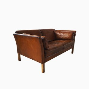 Vintage Danish Leather Sofa from Stouby