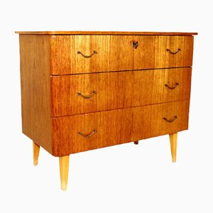 Swedish Teak Chest of Drawers, 1950s