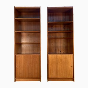 Danish Teak Bookcases, 1960s, Set of 2