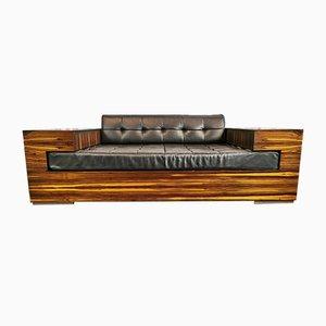 Scandinavian Zebrano Sofa from Ilva, 2000s