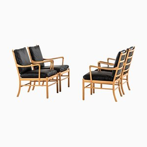PJ-149 Colonial Easy Chairs by Ole Wanscher for P. Jeppesen Møbelfabrik, 1960s, Set of 4