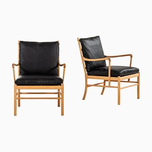 PJ-149 Colonial Easy Chairs by Ole Wanscher for P. Jeppesen Møbelfabrik, 1960s, Set of 2