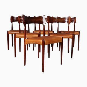 Rosewood Dining Chairs from Bernhard Pedersen & Søn, 1960s, Set of 6