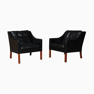 Mid-Century Lounge Chairs by Børge Mogensen for Fredericia, Set of 2