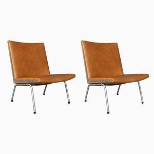 Mid-Century Airport Stühle von Hans J. Wegner für AP Stolen, 2er Set