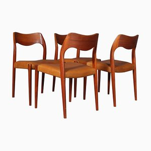 Dining Chairs by Niels Otto Møller, 1960s, Set of 4