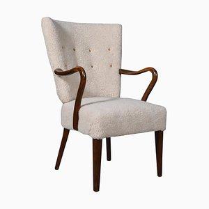 Danish Lambswool Lounge Chair, 1940s