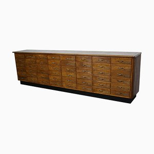 Large Dutch Oak Apothecary Cabinet, 1940s