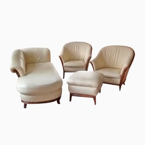 Cream-Colored Leather Sofa Set from Nieri