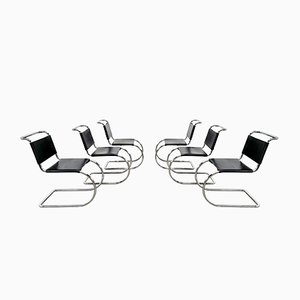 MR10 Dining Chairs by Mies van der Rohe for Knoll International, 1970s, Set of 6