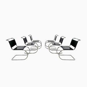 Sedie da pranzo MR10 di Mies van der Rohe per Knoll International, anni '70, set di 6
