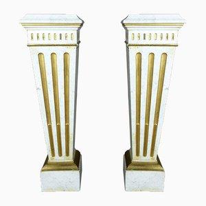 Napoleon III Marble Columns, Set of 2