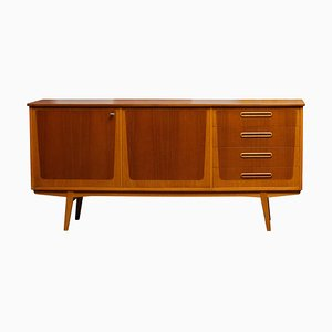 Scandinavian 2-Tone Teak and Oak Sideboard, 1960s