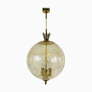 Mid-Century Brass and Glass Pendant Lamp from Limburg, 1960s