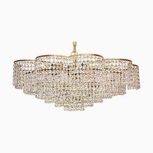 Large Crystal Chandelier from Palwa, 1960s