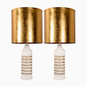 Table Lamps by Bitossi for Bergboms with Custom Made Shades by Rene Houben, 1960s, Set of 2