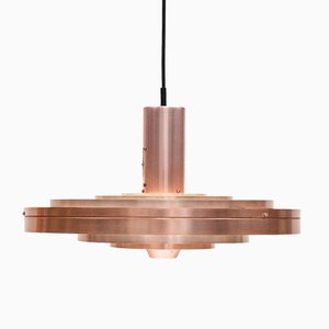 Copper Fibonacci Pendant Light by Sophus Frandsen for Fog & Mørup Denmark, 1963