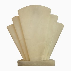 Art Deco Alabaster Table Lamp, 1950s
