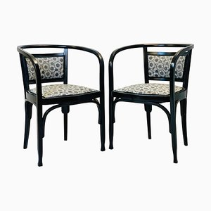 Vintage Armchairs by Otto Wagner, Set of 2