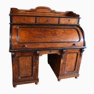 Antique Mahogany Roll-Top Desk
