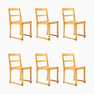 Swedish Theatre Chairs by Sven Markelius for Bodafors, 1932, Set of 6