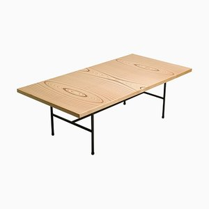 Plywood and Iron Low Table by Tapio Wirkkala for Asko, 1950s