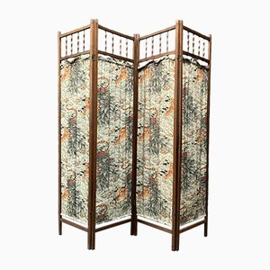 Wooden Folding Screen with Tigers, 1930s