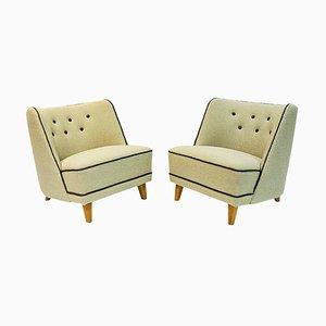 Easy Chairs par Møller & Stokke, Norvège, 1940s, Set de 2