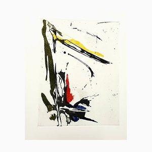 Abstract Composition Radierung von Jean Miotte, 1998