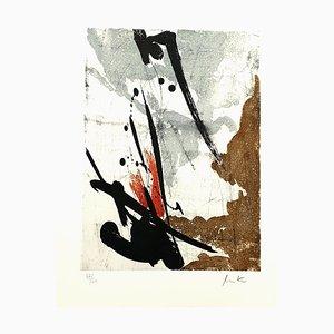Abstract Composition Radierung von Jean Miotte, 1994