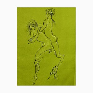 Satyr Lithograph by Leonor Fini, 1982