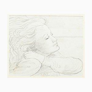 Eugène Berman, Porträt seiner Frau, 20. Jahrhundert, Original Bleistift auf Papier