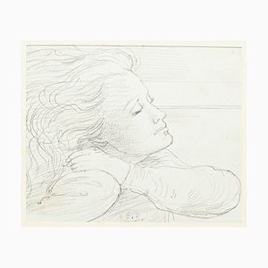 Eugène Berman, Portrait of his Wife, 20th Century, Original Pencil on Paper
