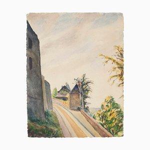 Landscape Watercolor by Roland Brudieux