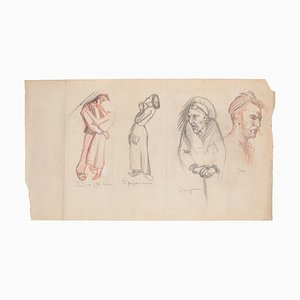 Figure Original Pencil on Paper