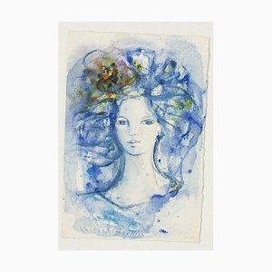 Portrait of Woman Watercolor von Madeleine Sellier