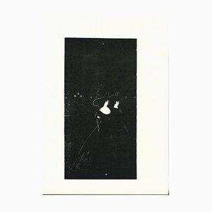 Les Passades Lithograph by Aubrey Vincent Beardsley, 1970s