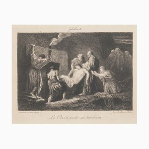 Le Christ Portè au Tombeau Original Etching by A. Greux and A.Salmon