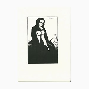 Erda Lithograph by Aubrey Vincent Beardsley, 1970s