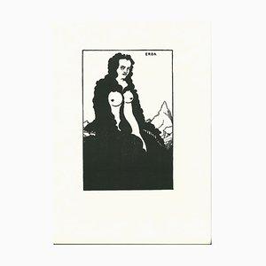 Erda Lithographie von Aubrey Vincent Beardsley, 1970er
