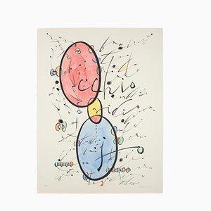 Letter O Lithograph by Rafael Alberti, 1970s