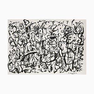 Combinarsi Original Ink on Paper by Maurizio Gracceva, 2018