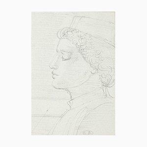 Profile of Man Original Bleistift auf Papier von Eugène Berman