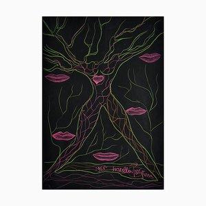 Dibujo Original Love in Pastels, 1958